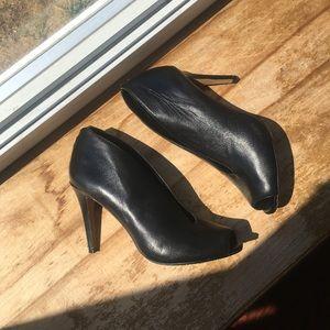 Nordstrom Halogen Leather Black Heels 9